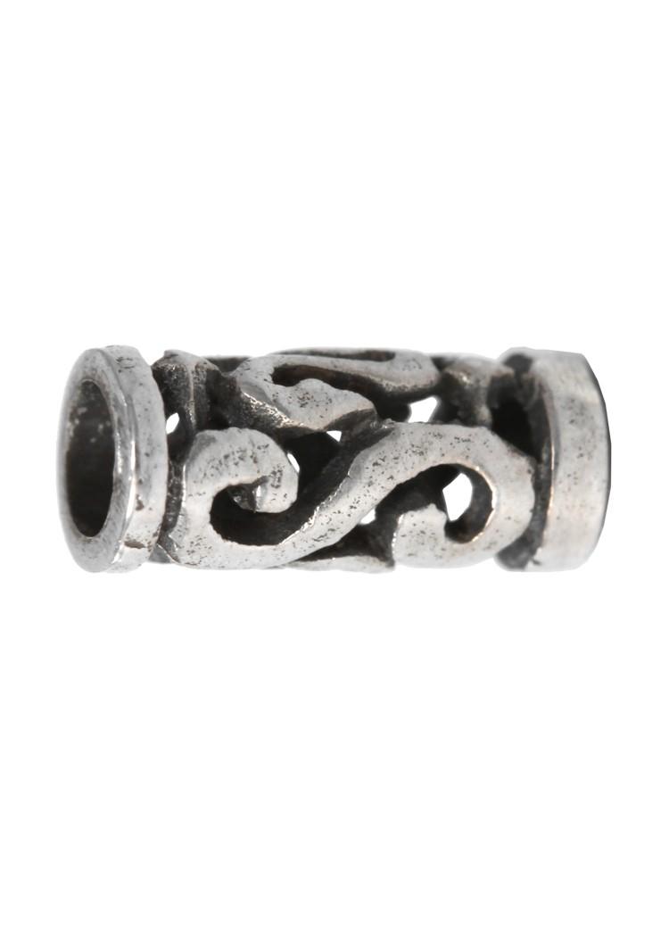 Pieni Kelttikuvioinen partahelmi spiraalikuviolla, hopeaa