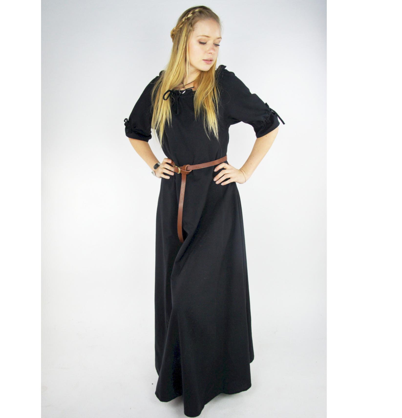 Melisande täyspitkä lyhythihainen mekko