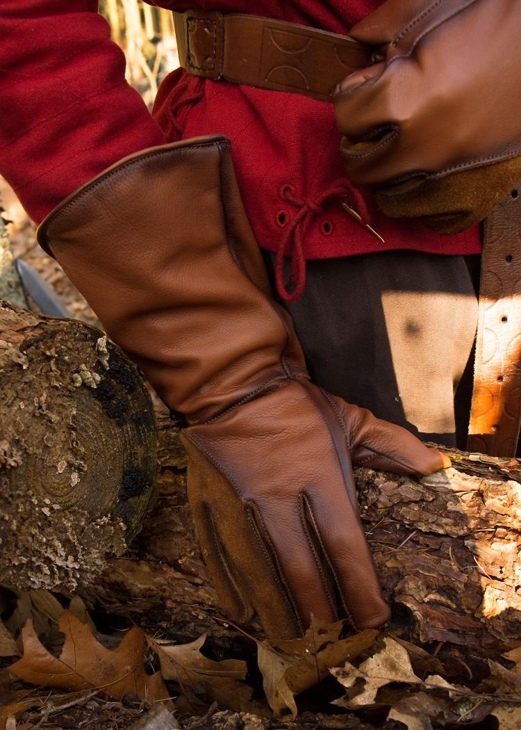 Haukan ohjaajan hanskat, Falcon,  nahkaa