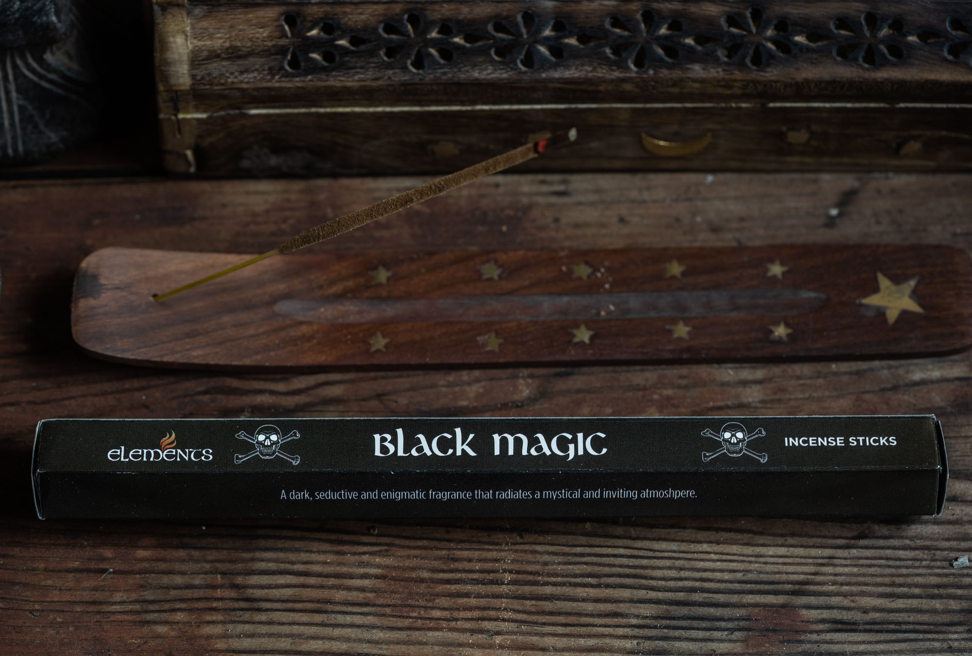 ELEMENTS BLACK MAGIC INCENSE STICKS 1paketti
