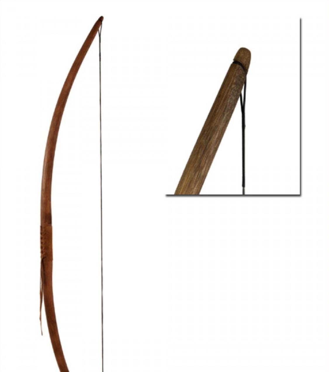 Pitkäjousi Agincourt 58 RH, dark brown, string included