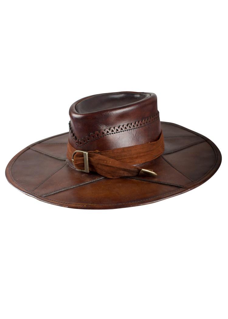 Ruttotohtori hattu, musta tai ruskea nahkaa