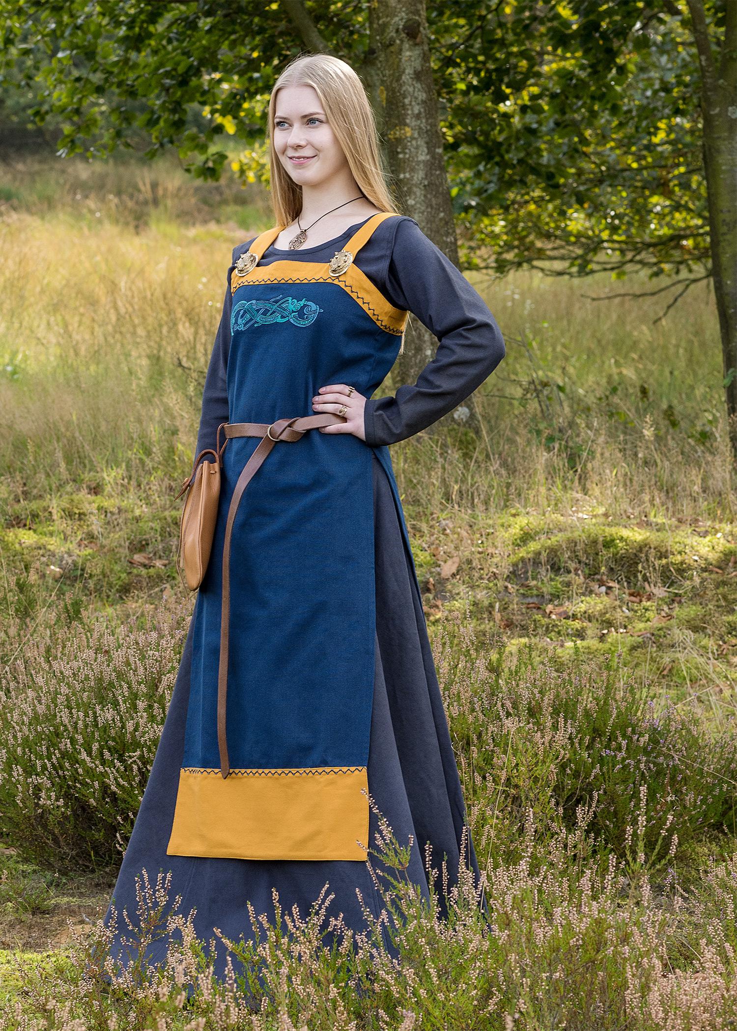 Viikinki mekko Hilja koruompelein