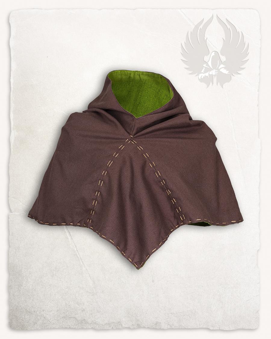 Halaif hiippahuppu canvas ruskea/sammaleenvihreä