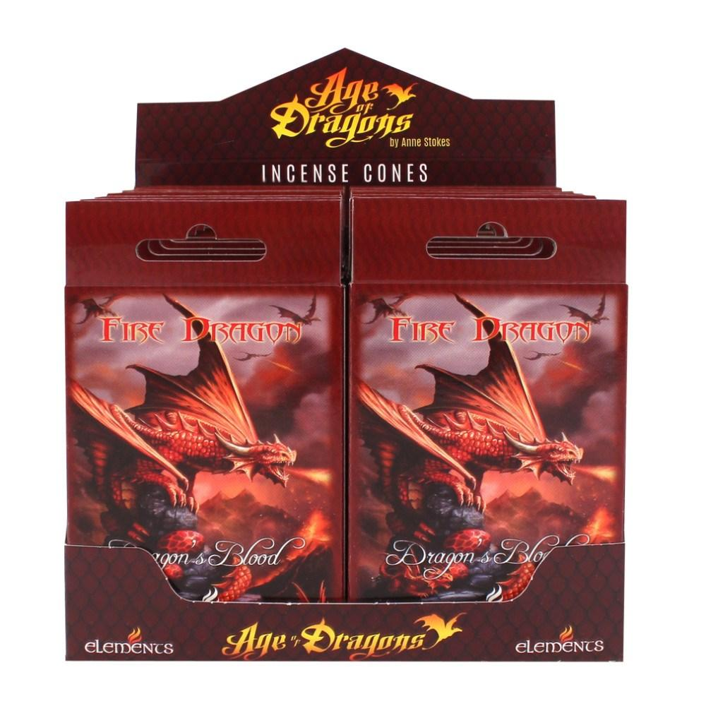 Anne Stokes Fire Dragon kartiosuitsuke rasia Elements