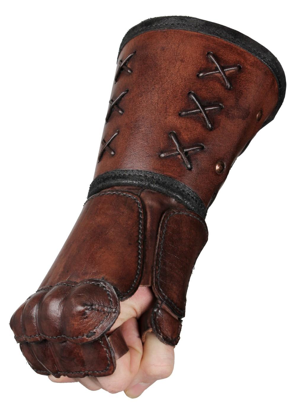 Käsisuoja nahkaa, leather gauntlet
