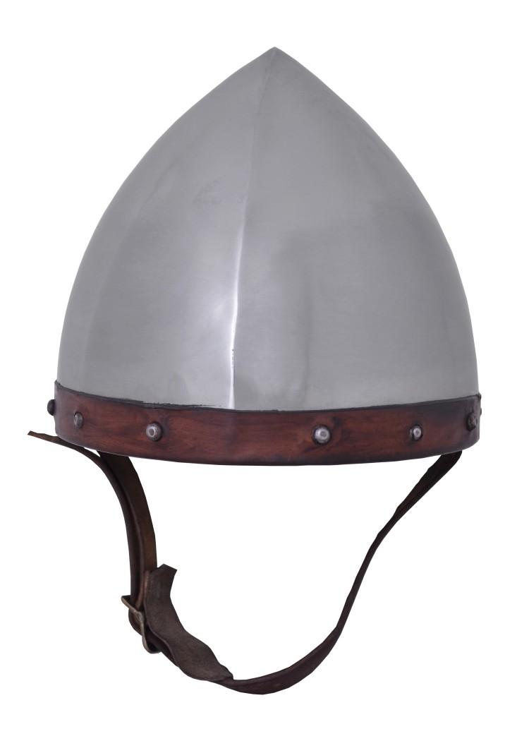 Jousiampujan kypärä, 1.6 mm terästä nahkaverhoilulla