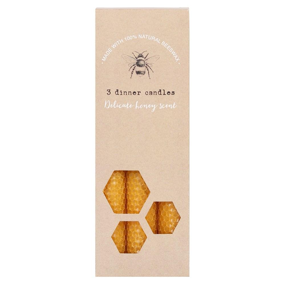Blessed Bee - kolme kynttilää mehiläisvahaa