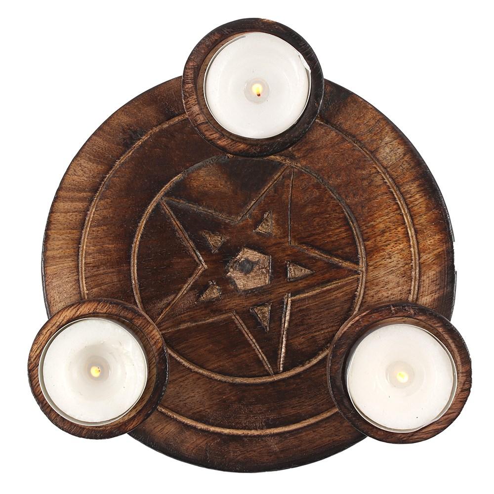 Kynttiläalusta Pentagrammi lämpökynttilöille