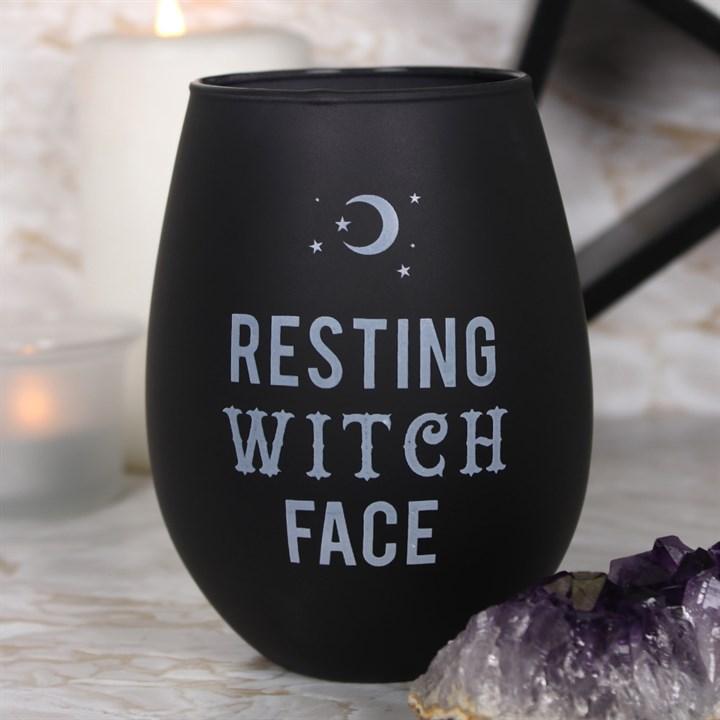 Resting Witch Face viinilasi ilman jalkaa