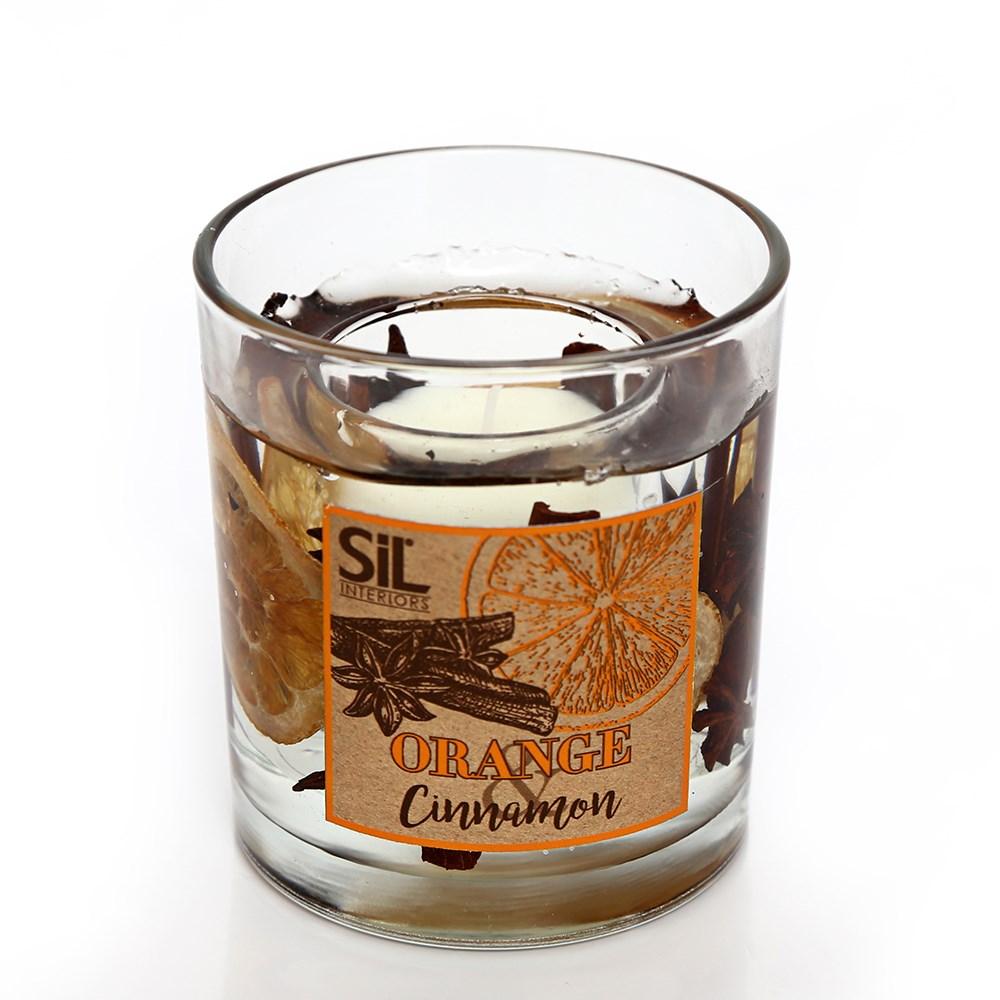 kynttilä kanelin ja appelsiinin tuoksuinen (keskikoko)