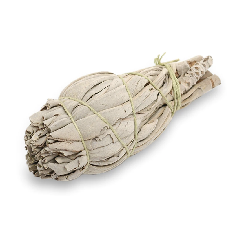 Valkosalvia suitsukenippu pieni, Premium-laatu (Herbs&Spell by keskiaikapuoti)