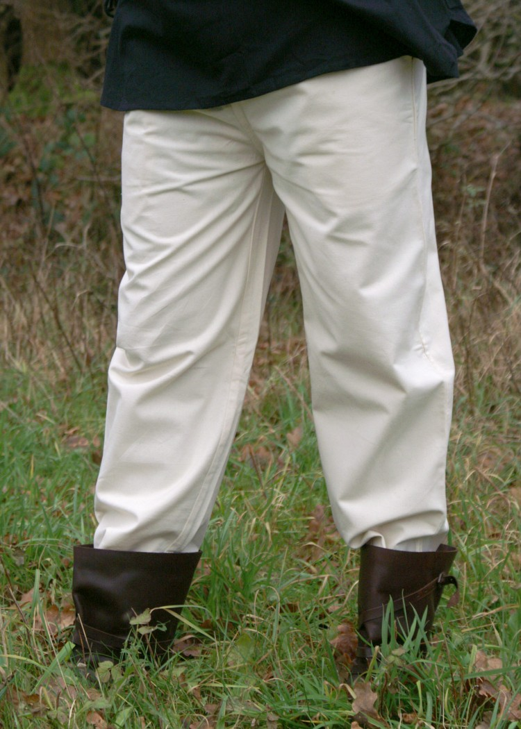 Medieval Cotton Pants, natural-coloured