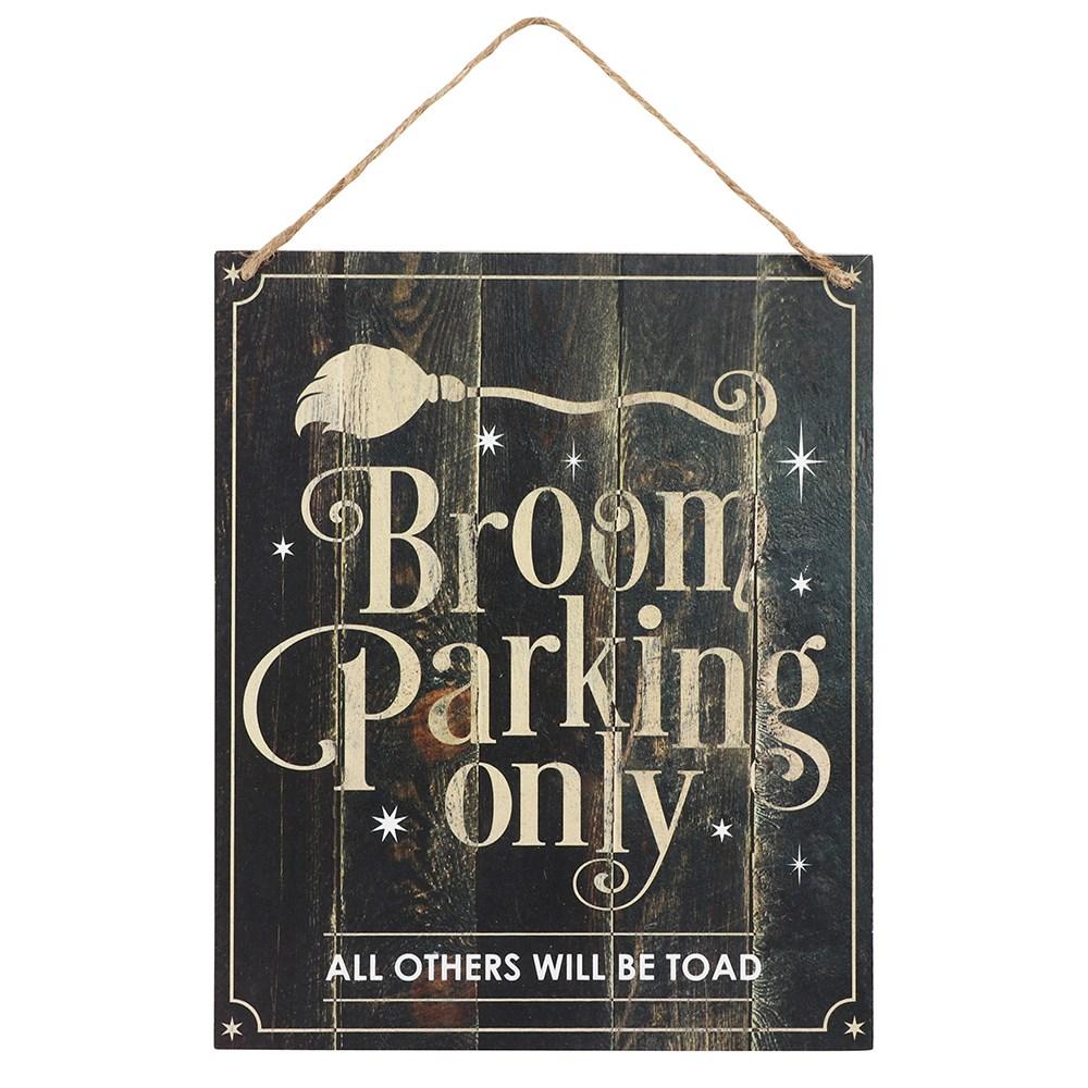 Broom parkin only huoneentaulu kyltti