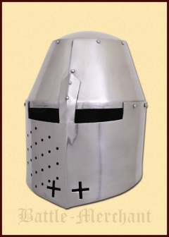 Great Helmet (Pembridge Style), circa 1370, 2 mm steel