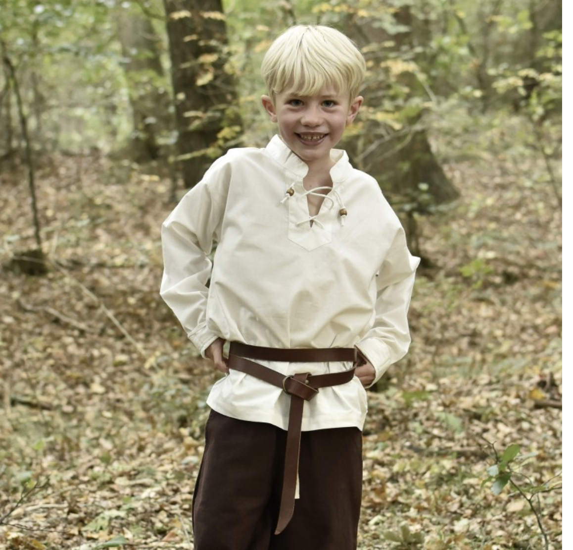 Medieval Shirt Colin for Children, natural-coloured