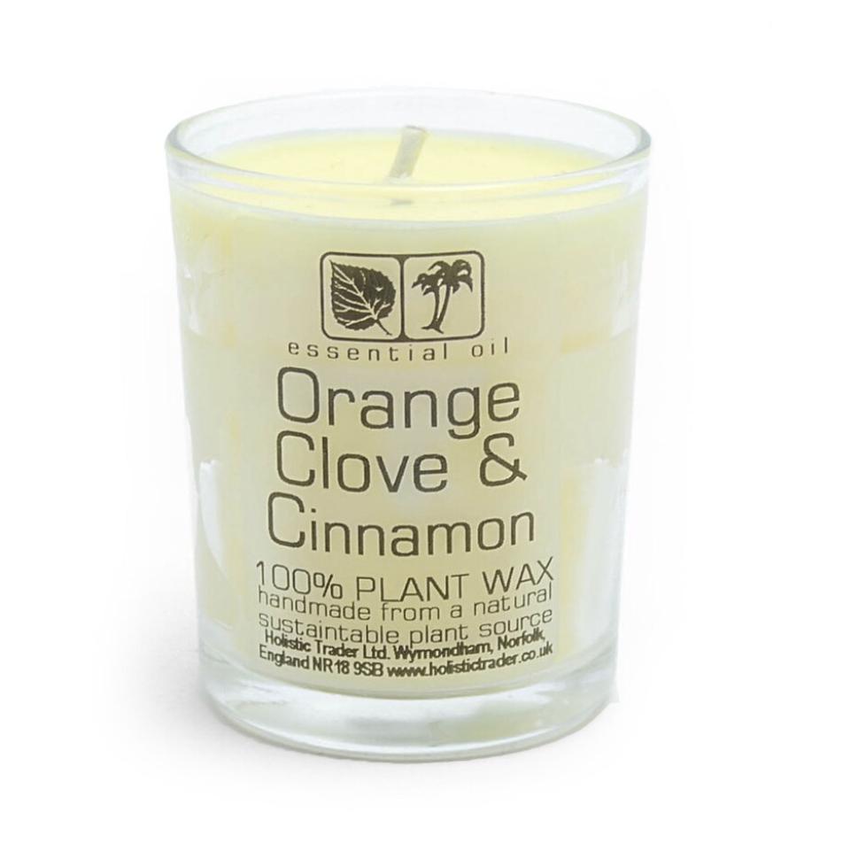 Large Organic Wax Candle - appelsiini ja kaneli