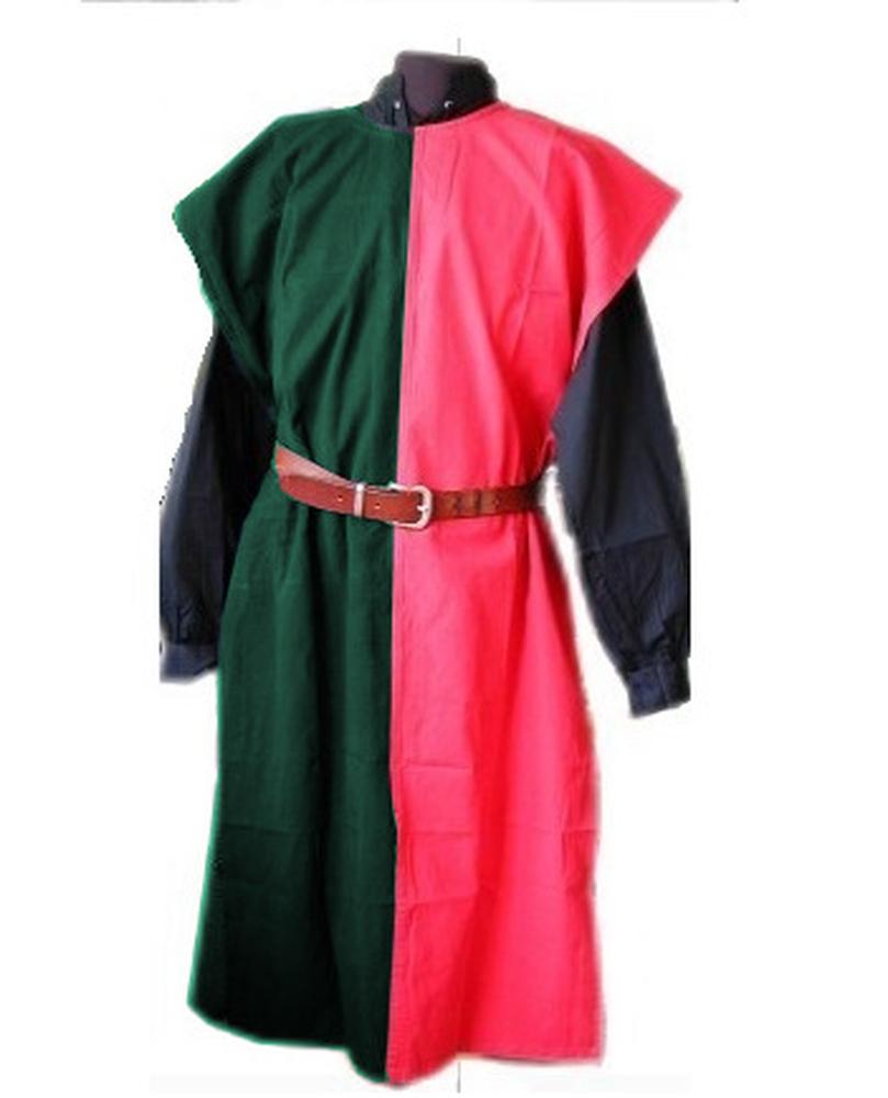 Tunika bi-color vihreä/punainen
