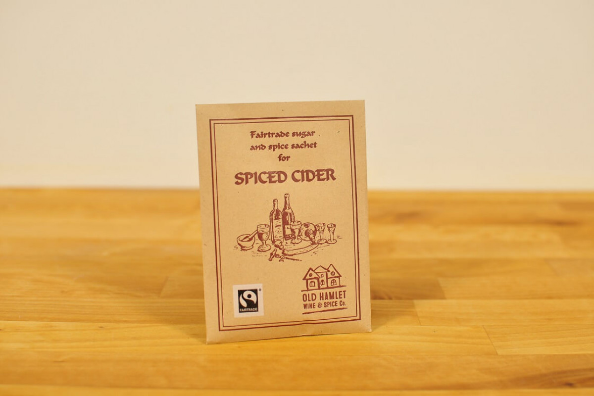 Lämmitetty siideri  mausteseos, Fairtrade Mulled Cider Spice Mix - Single Serve