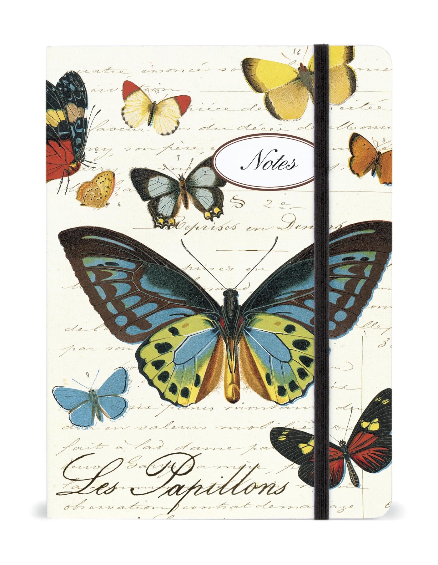 Cavallini Butterflies Notebook, large