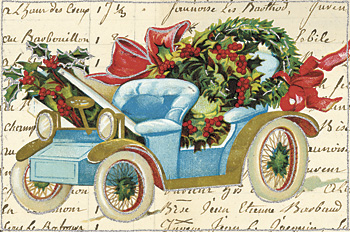 Glitter greetings Vintage Holiday