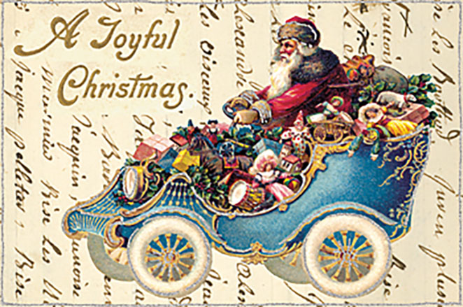 Glitter greetings Vintage Holiday