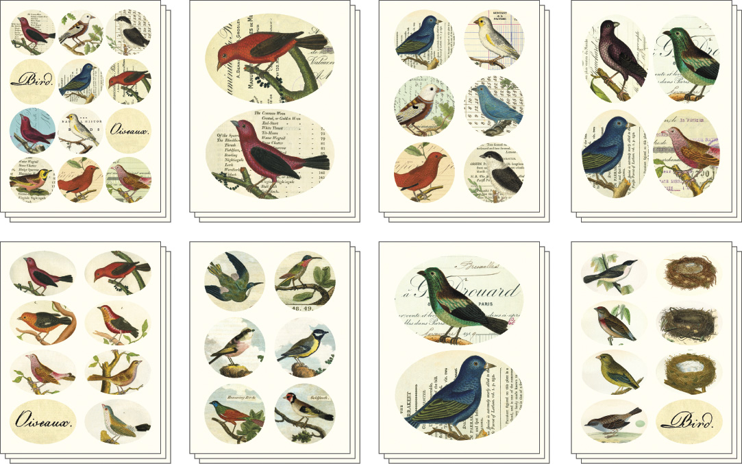 Cavallini Stickers Bird