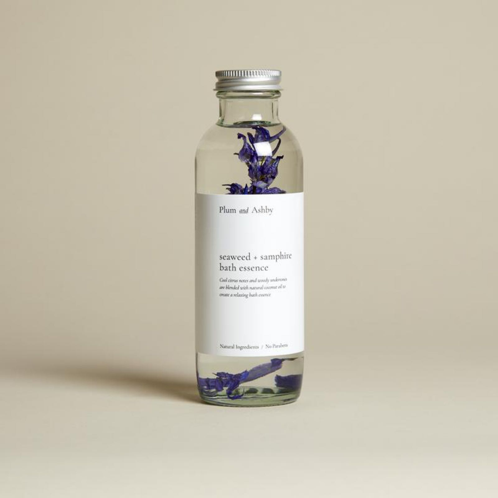 Plum & Ashby Seaweed & Samphire Bath Essence 225ml made with Natural Oils for a Luxurious Bath