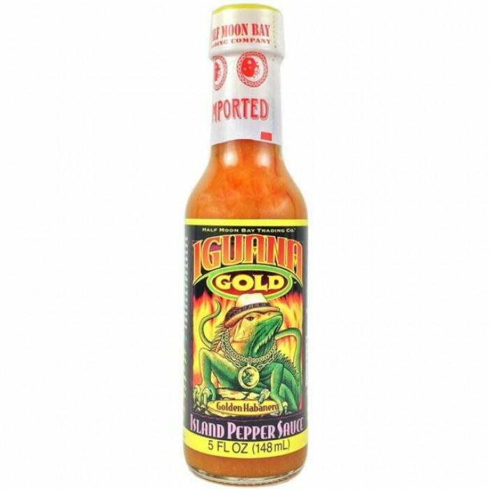 Iguana Gold - Island Pepper Sauce - Bajun style with mustard