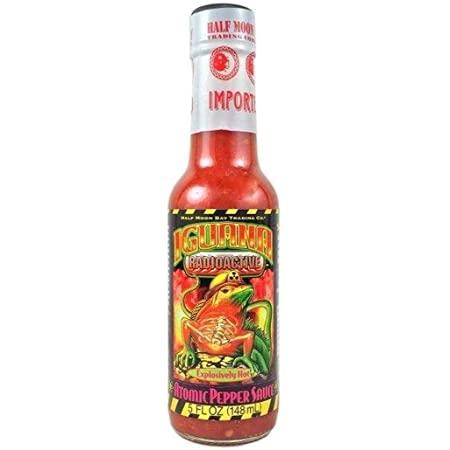 Iguana Radioactive Atomic Habanero, Cayenne & Tabasco Pepper Sauce