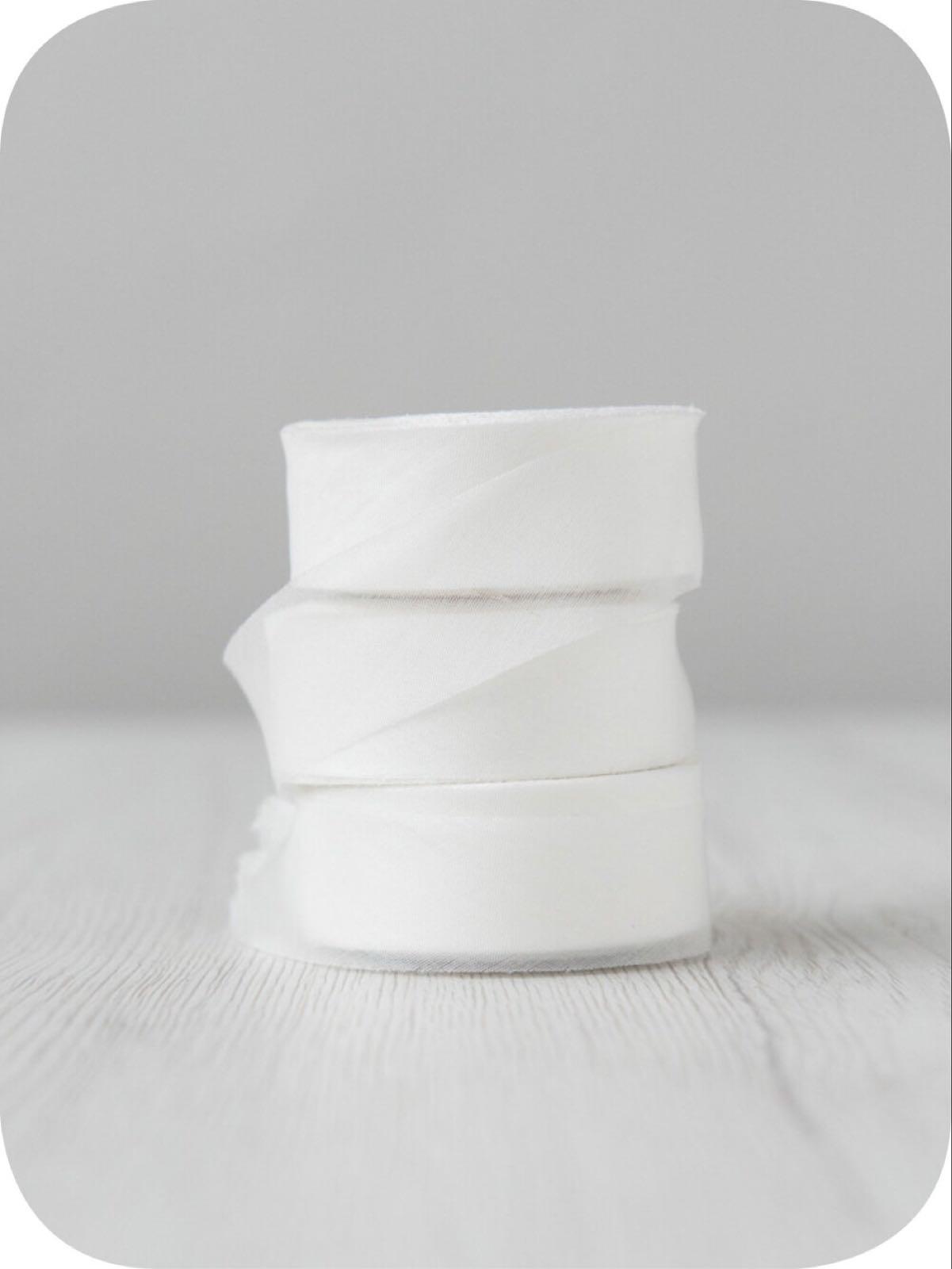 """Chiffong band 2,5 cm """"Natural White"""""""