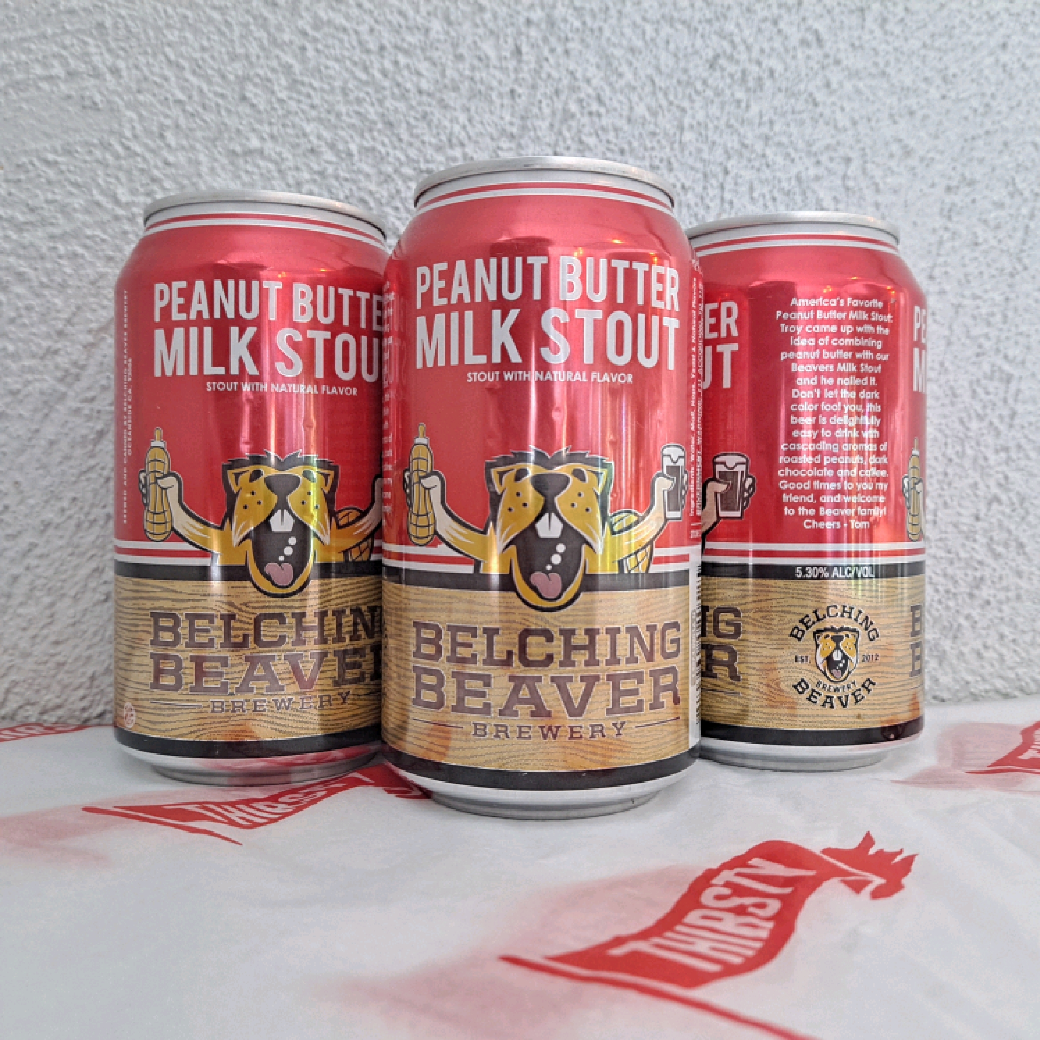 Belching Beaver | Peanut Butter Milk Stout | 5.3% 330ml
