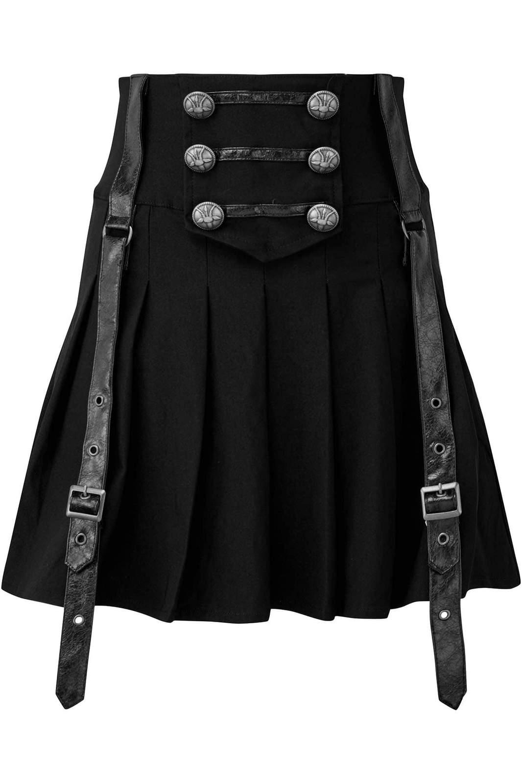 Dark Academy Mini Skirt Black by Killstar