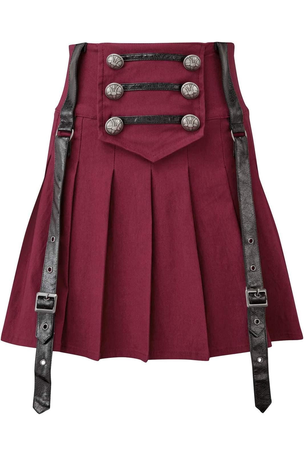 Dark Academy Mini Skirt Blood by Killstar