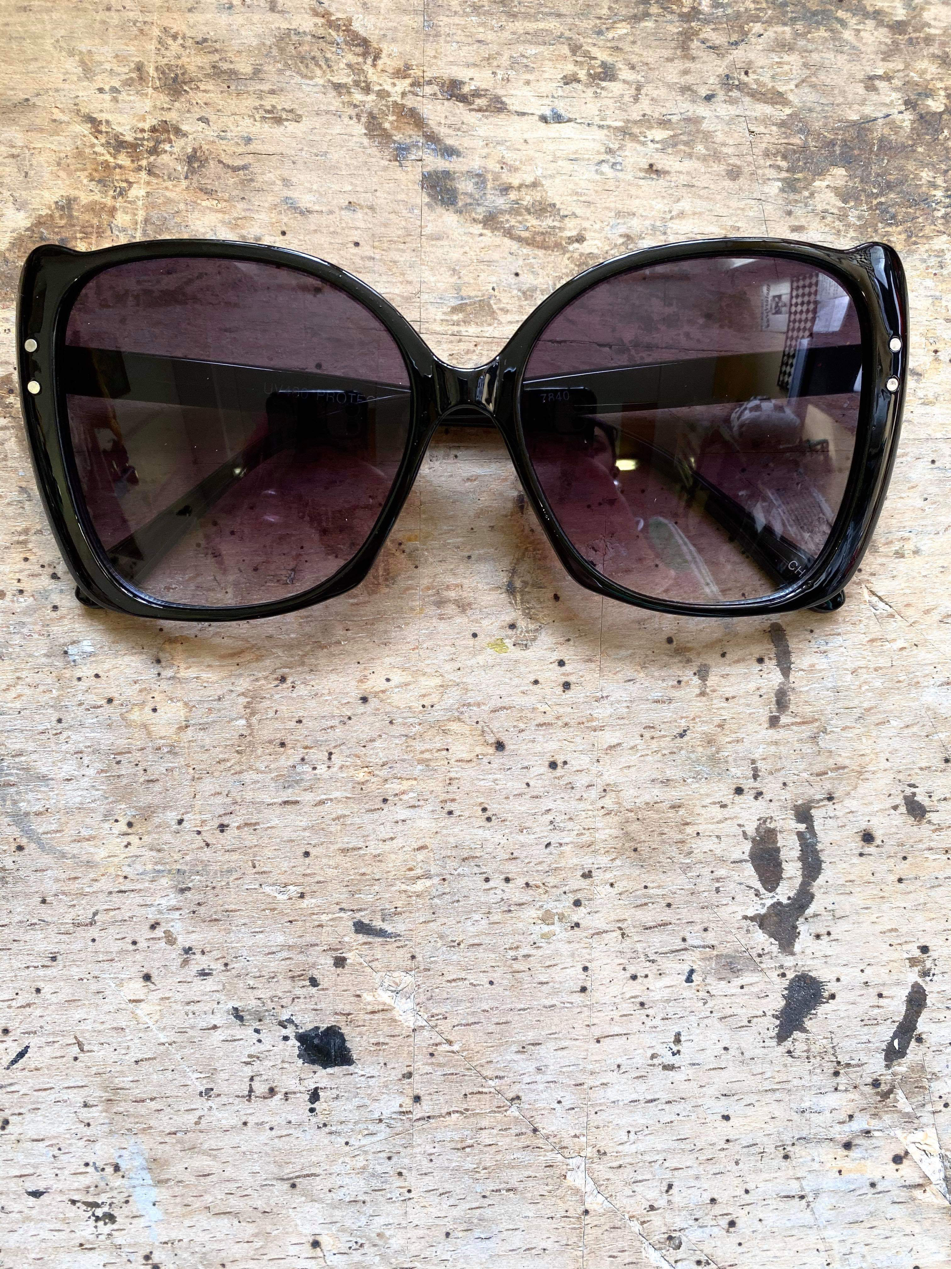 Big Cateye Solbrillor Black