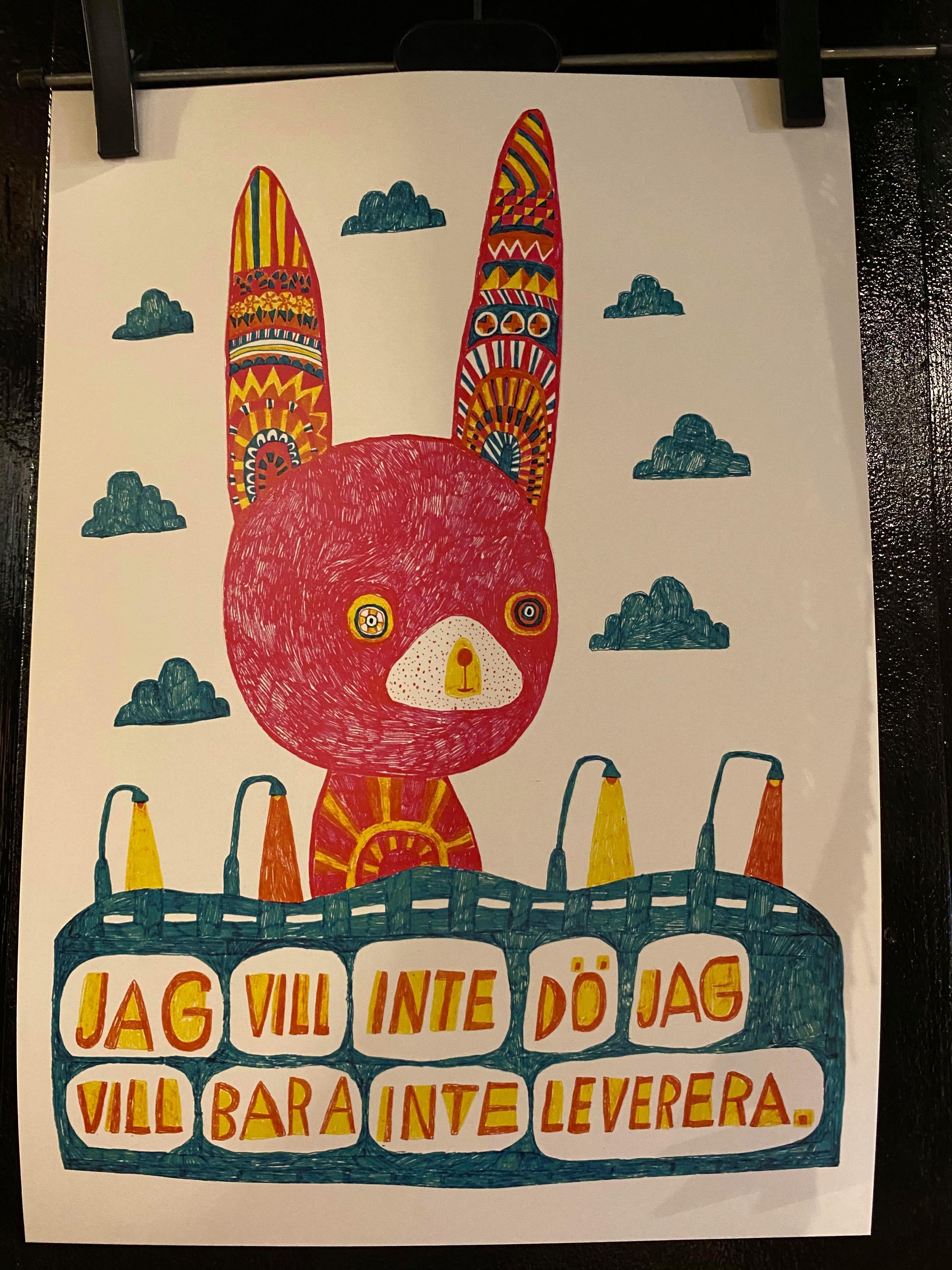 Jag vill inte dö Poster by Sara Granér