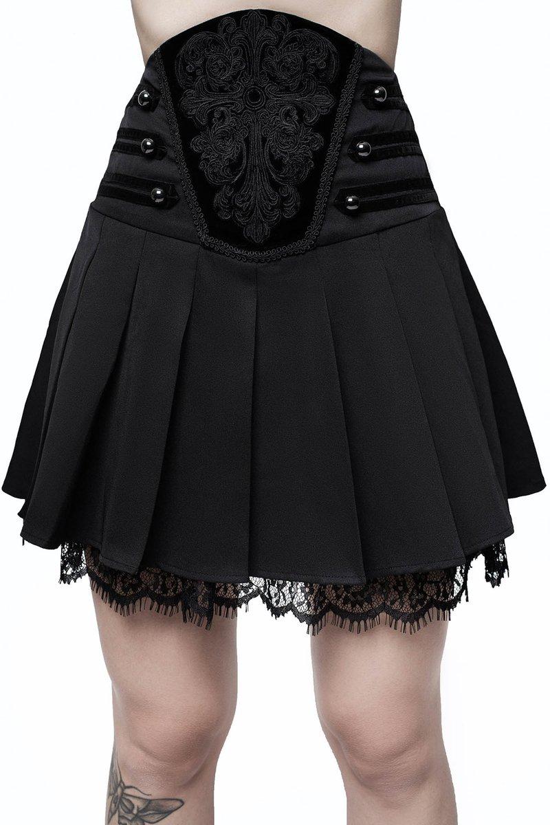 Abbey Pleated Skirt Killstar