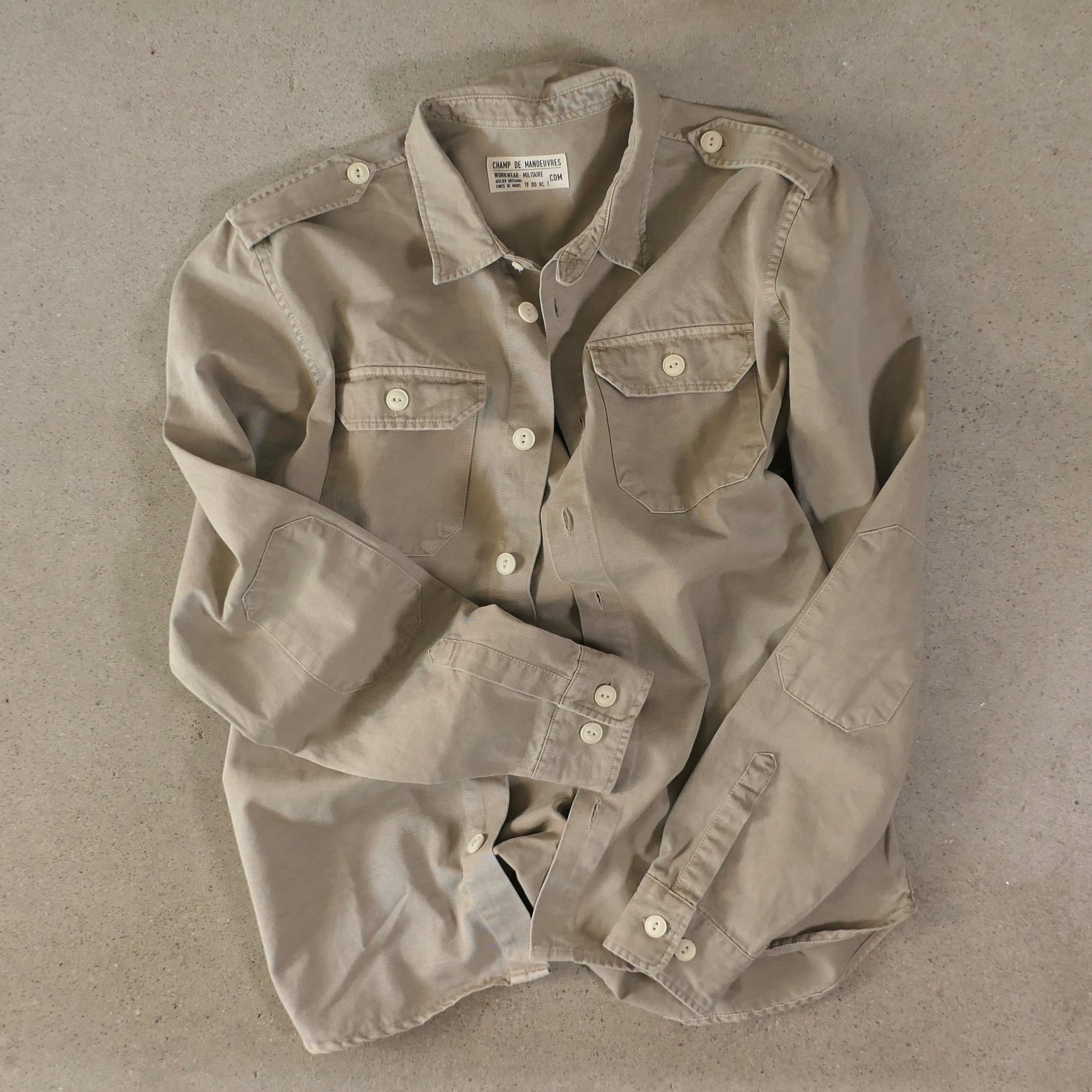 French military overshirt Sand