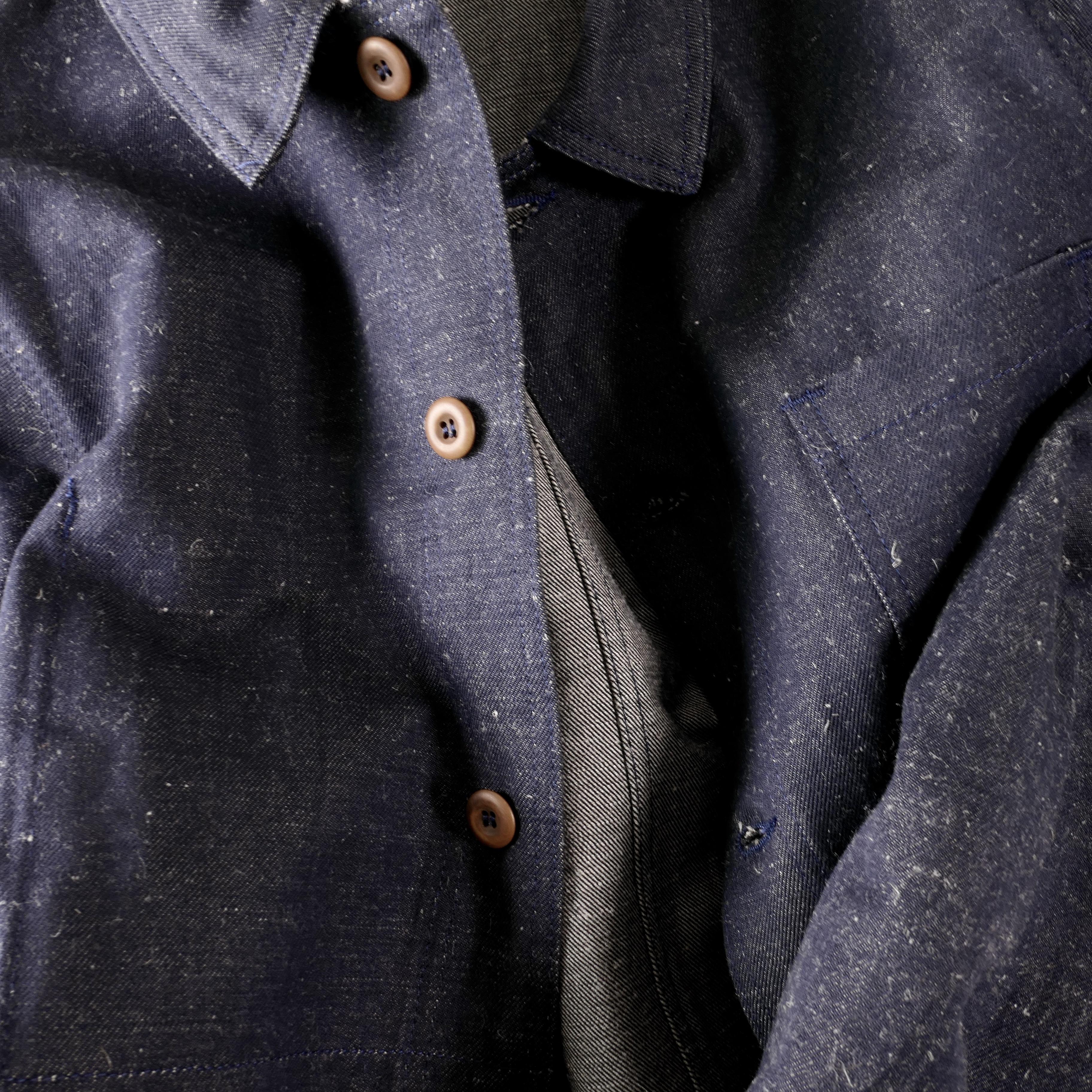 L'Usine Bleue Indigo chore jacket