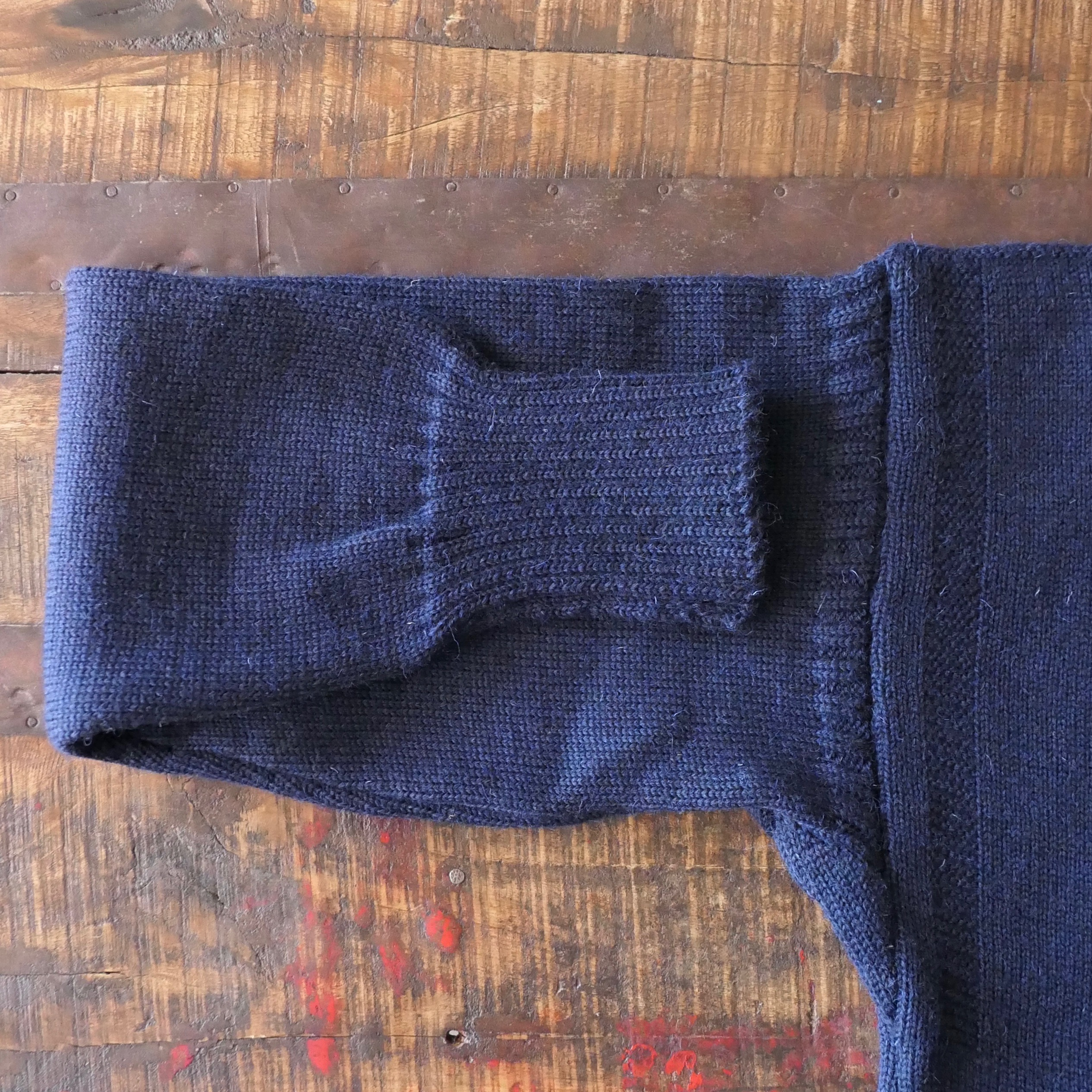 Guernsey Fisherman's Wool Sweater - NAVY