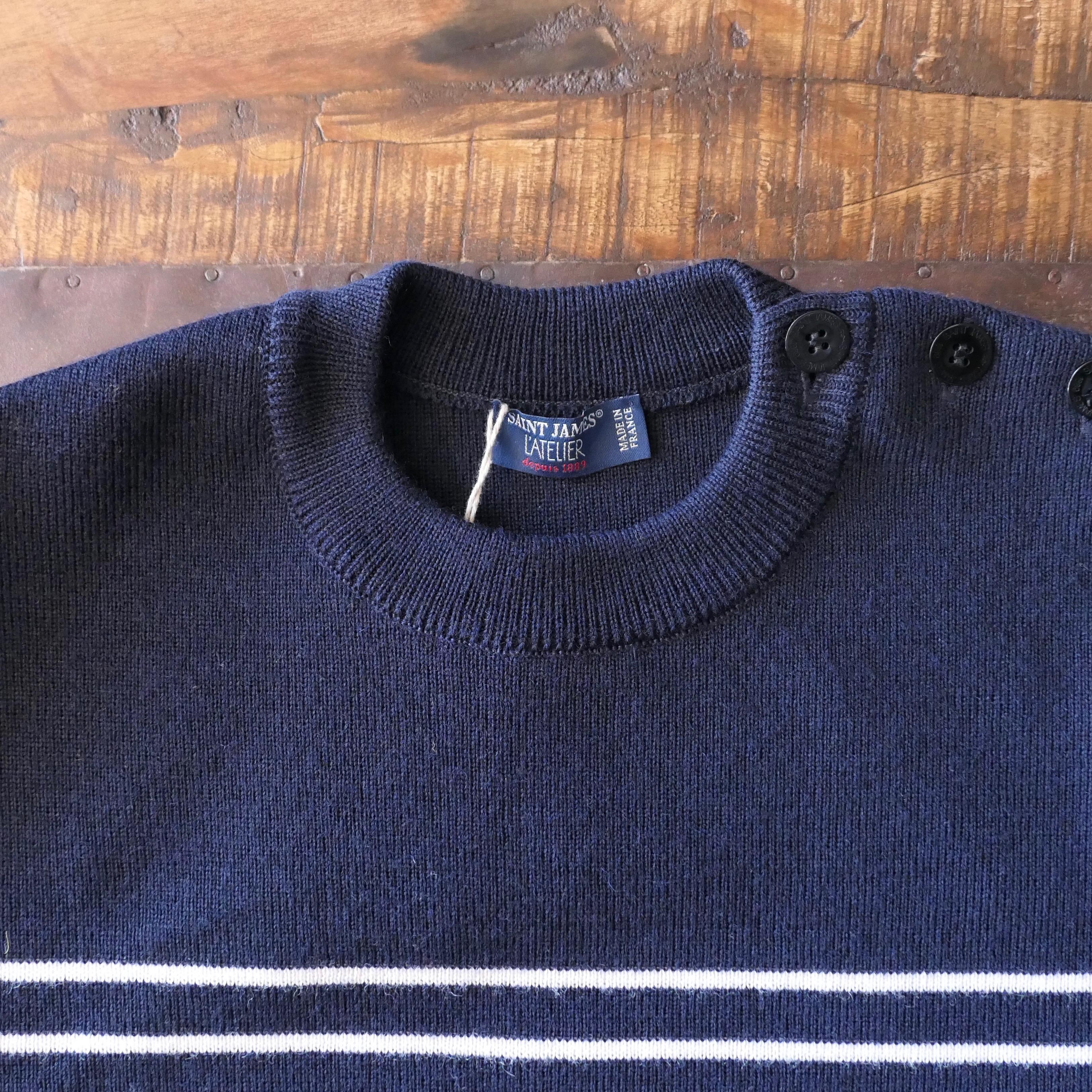 Marinier Wool Sweater Stripe Navy/Sand