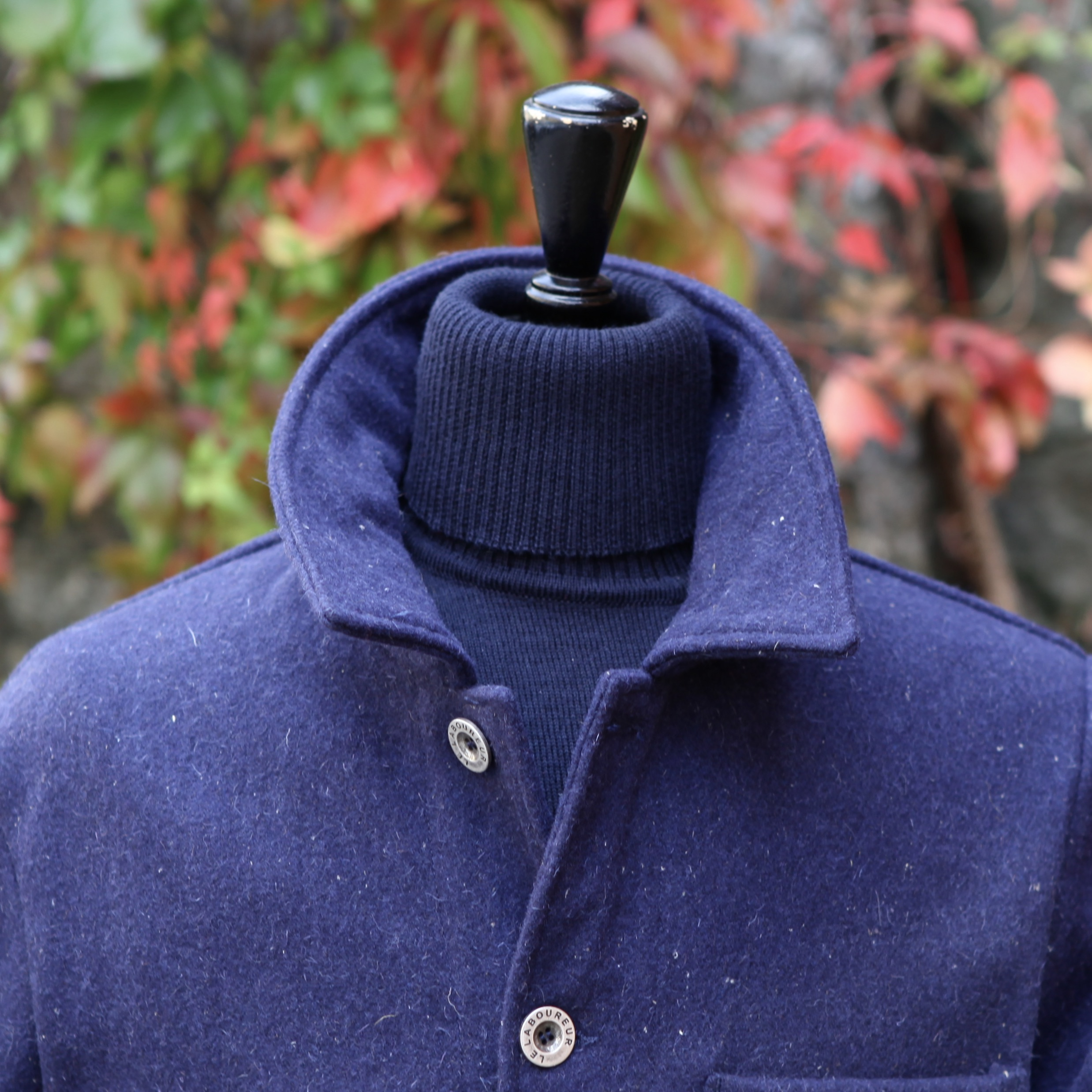 Le Laboureur Woolen Jacket NAVY