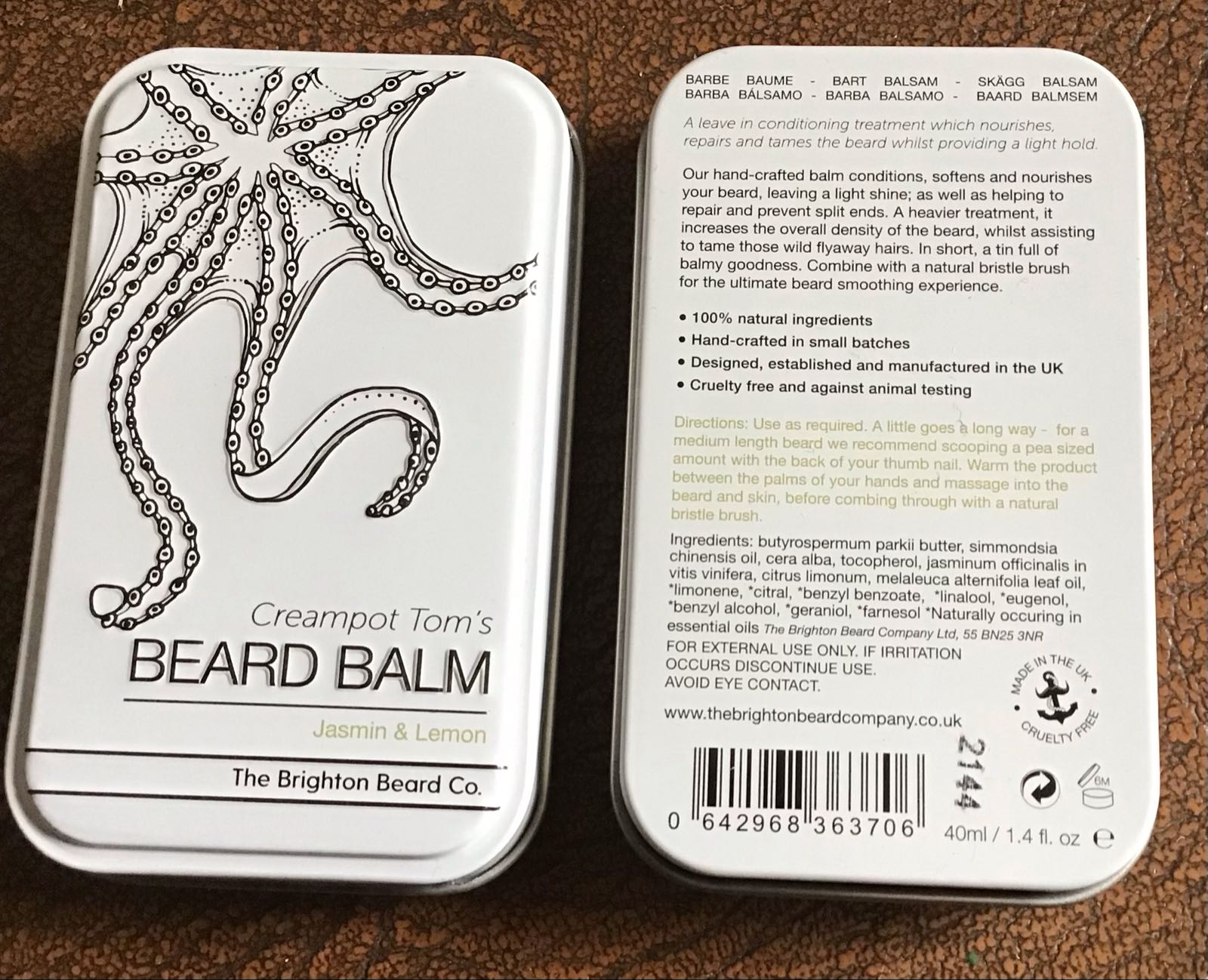 Brighton Beard Balm 40ml rectangle
