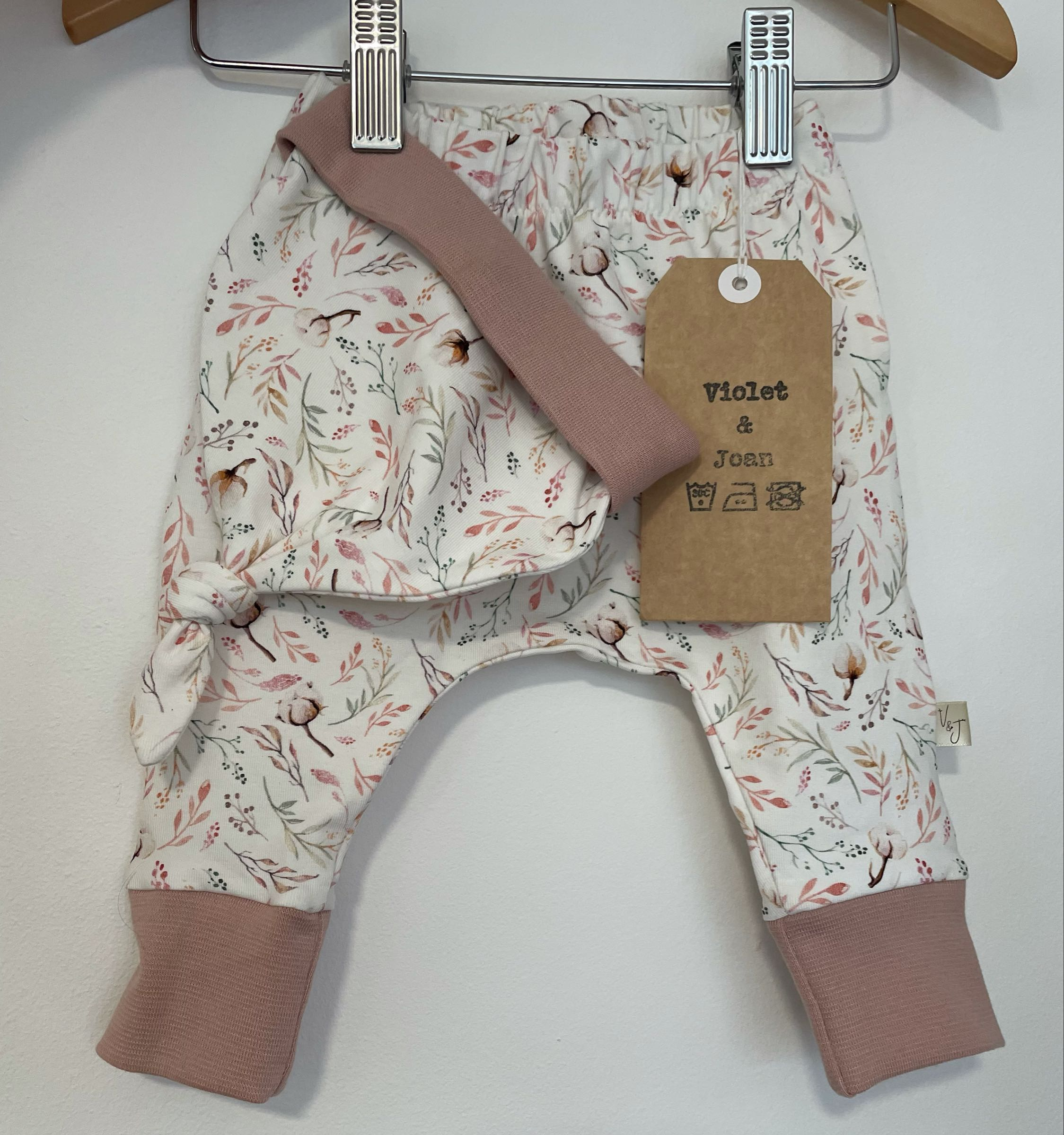 Violet and Joan Handmade Organic Clothing -  pink Cotton bud