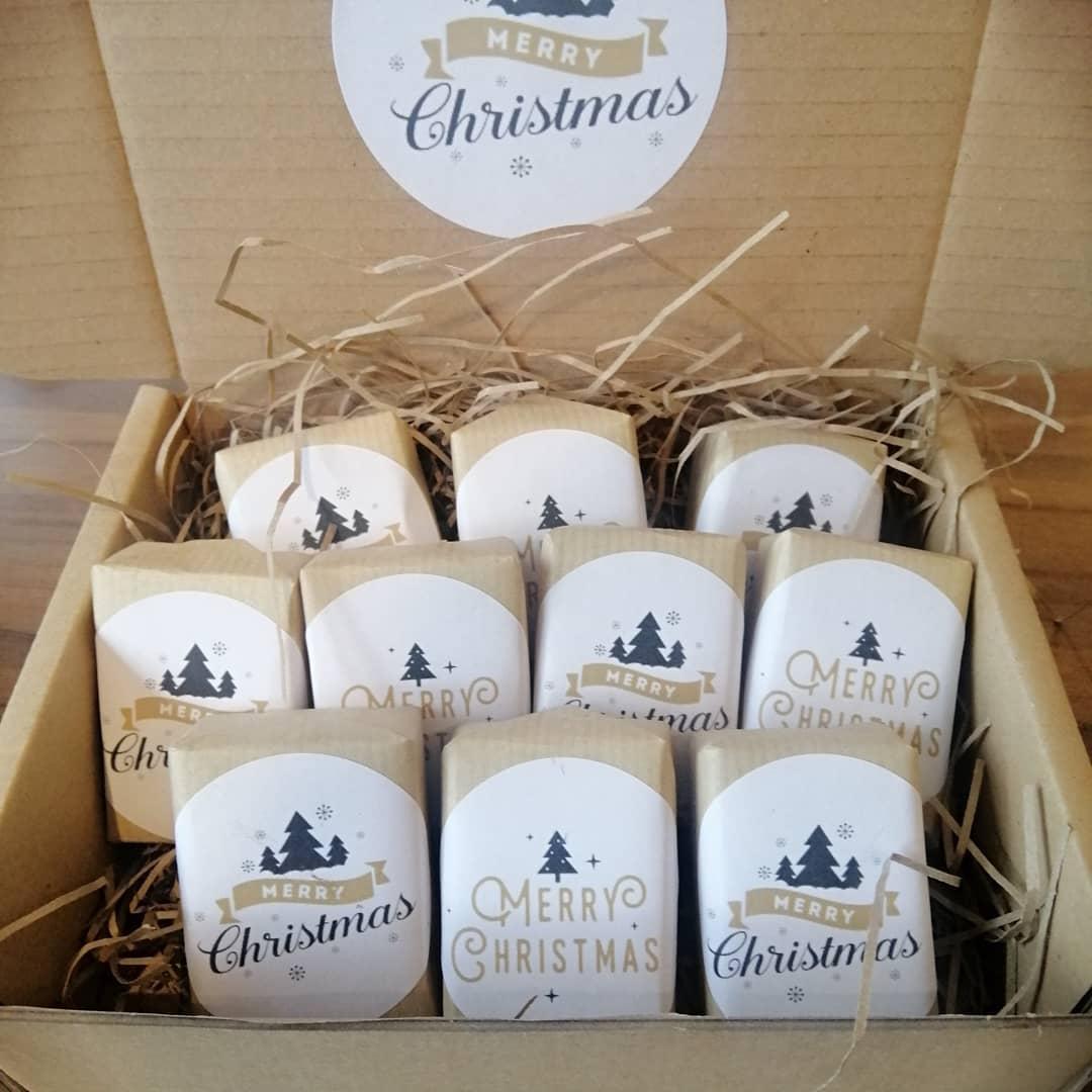 Merry Christmas Mini Soaps - box of Ten