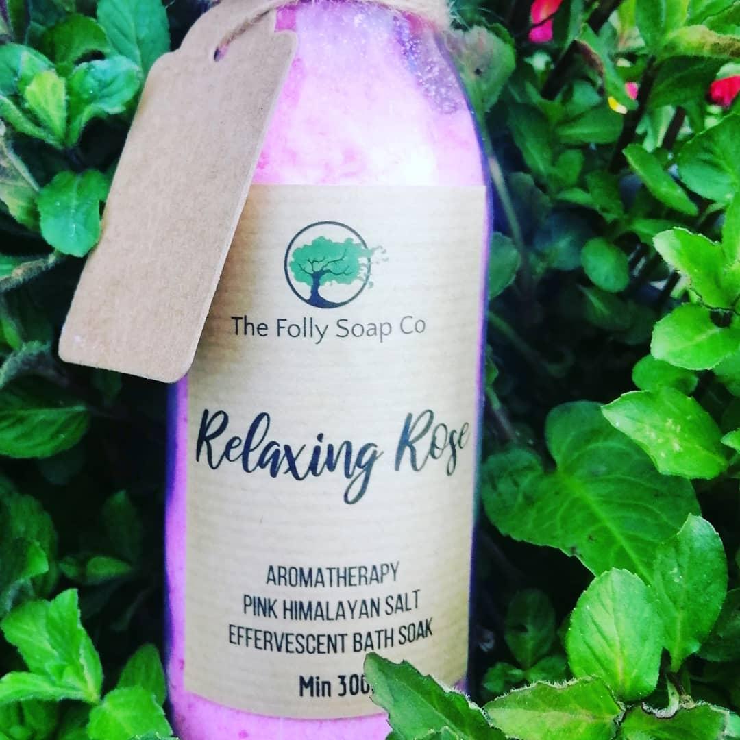 Relaxing Rose Aromatherapy Bath Salts