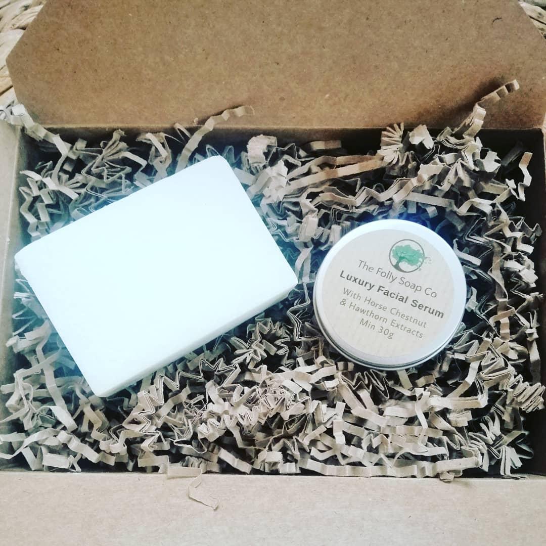 Salt Soap & Hawthorne & Horse Chestnut Luxury Serum Set
