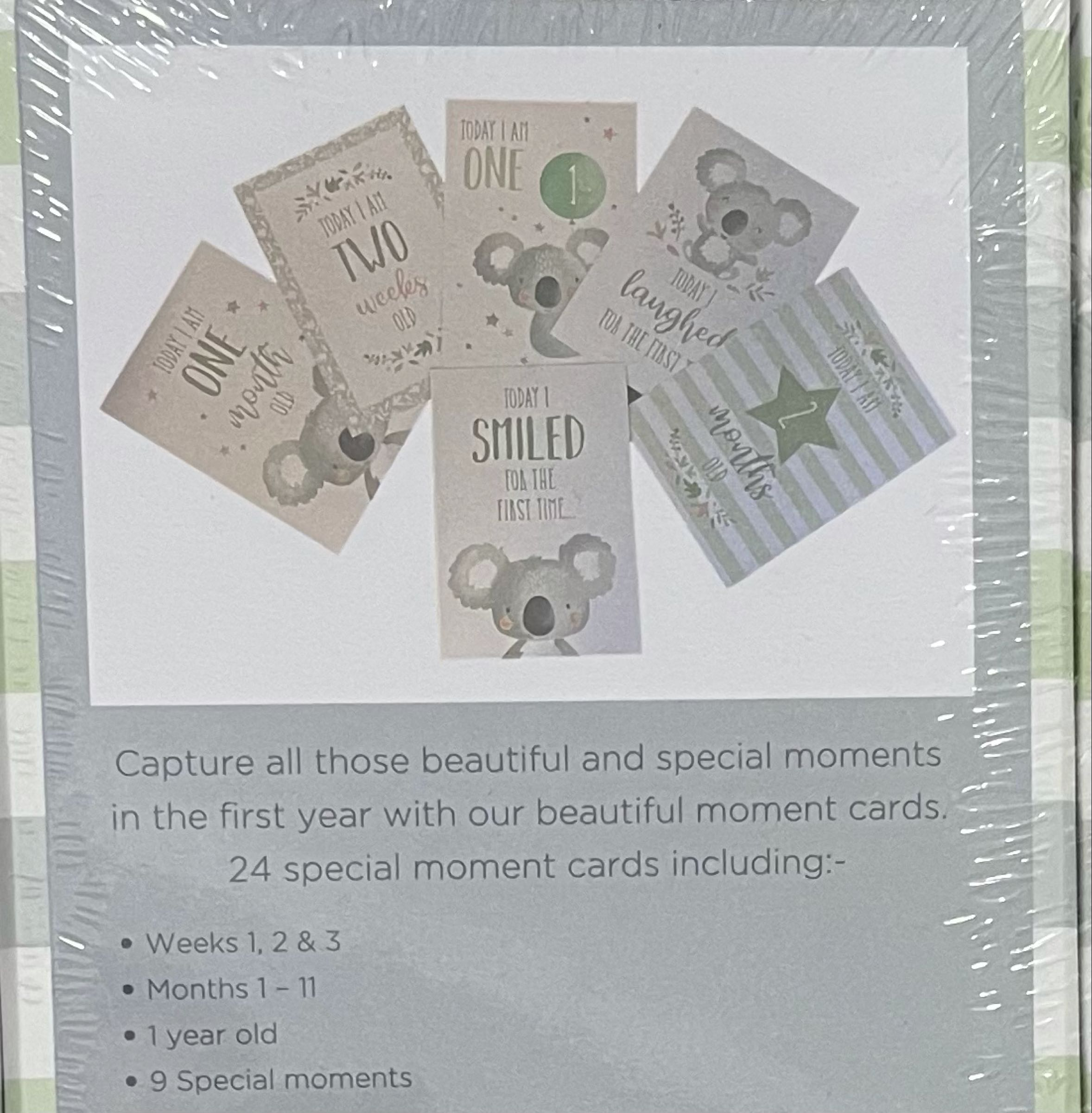 Koala baby first moments cards