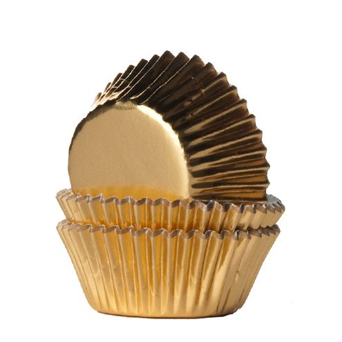 House of Marie Mini Baking Cups Foil Gold pk/36