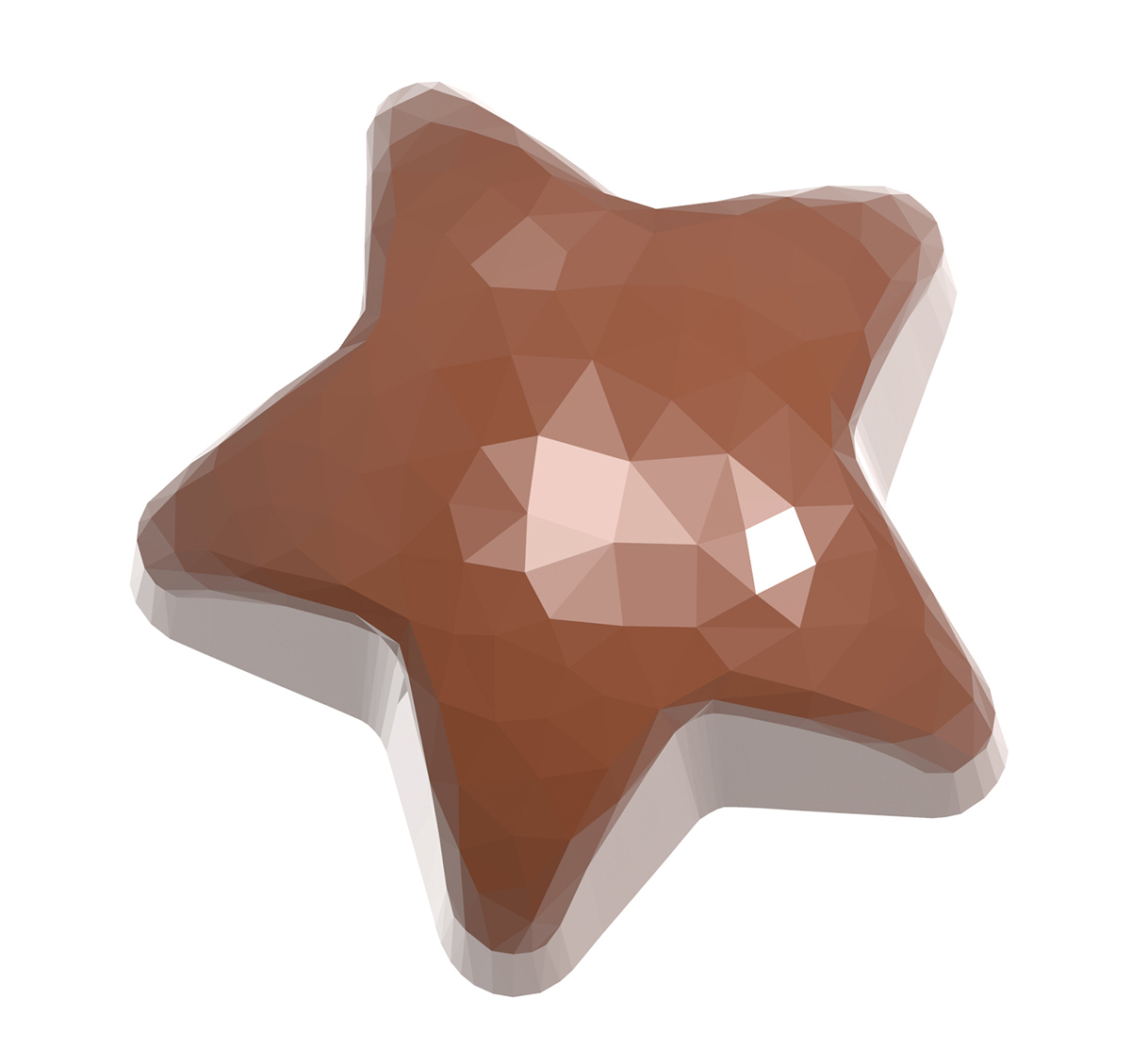 Pralinform Facett Stjärna